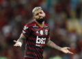 RIO DE JANEIRO, BRAZIL - NOVEMBER 13: Gabriel Barbosa of Flamengo reacts during a match between Flamengo and Vasco as part of Brasileirao Seria A 2019 at Maracana Stadium on November 13, 2019 in Rio de Janeiro, Brazil. (Photo by Wagner Meier/Getty Images)