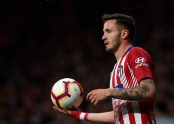 MADRID, SPAIN - APRIL 02: Saul Niguez of Atletico de Madrid in action during the La Liga match between Club Atletico de Madrid and Girona FC at Wanda Metropolitano on April 02, 2019 in Madrid, Spain. (Photo by Quality Sport Images/Getty Images)