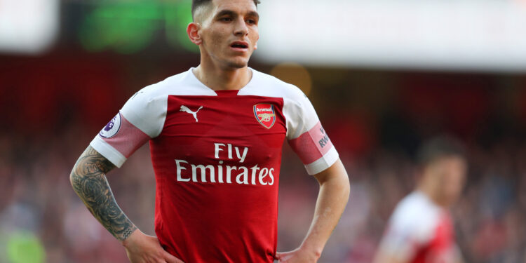 LONDON, ENGLAND - FEBRUARY 24: Lucas Torreira of Arsenal during the Premier League match between Arsenal FC and Southampton FC at Emirates Stadium on February 24, 2019 in London, United Kingdom. (Photo by Catherine Ivill/Getty Images)