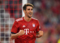 MUNICH, GERMANY - AUGUST 05: Javier Martinez of Bayern Muenchen celebrates scoring his teams first goal during the friendly match between Bayern Muenchen and Manchester United at Allianz Arena on August 5, 2018 in Munich, Germany. (Photo by Sebastian Widmann/Bongarts/Getty Images)