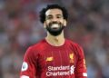 LIVERPOOL, ENGLAND - AUGUST 09: Mohamed Salah of Liverpool smiles during the Premier League match between Liverpool FC and Norwich City at Anfield on August 09, 2019 in Liverpool, United Kingdom. (Photo by Michael Regan/Getty Images)