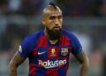 JEDDAH, SAUDI ARABIA - JANUARY 09:  Arturo Vidal of Barcelona in action during the Supercopa de Espana Semi-Final match between FC Barcelona and Club Atletico de Madrid at King Abdullah Sports City on January 09, 2020 in Jeddah, Saudi Arabia. (Photo by Francois Nel/Getty Images)