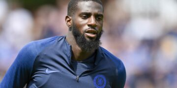 Tiemoue Bakayoko of Chelsea during the Pre-Season Friendly match between St. Patrick's Athletic and Chelsea FC at Richmond Park in Dublin, Ireland on July 13, 2019 (Photo by Andrew Surma / Sipa USA).