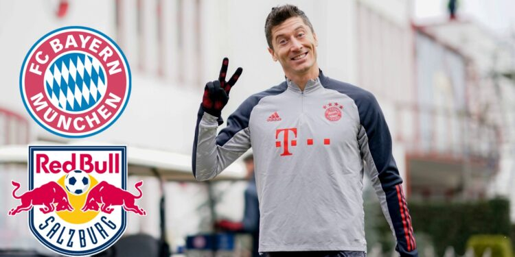 """In this handout picture released on November 24, 2020 by FC Bayern Munich, Bayern Munich's Polish forward Robert Lewandowski attends a training session on the eve of the UEFA Champions League match Bayern Munich v Salzburg in Munich, southern Germany. (Photo by Marco Donato / various sources / AFP) / RESTRICTED TO EDITORIAL USE - MANDATORY CREDIT """"AFP PHOTO /FC BAYERN MUNICH """" - NO MARKETING - NO ADVERTISING CAMPAIGNS - DISTRIBUTED AS A SERVICE TO CLIENTS"""
