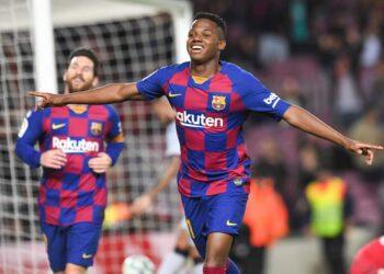 FOOTBALL: FC Barcelone vs Levante UD- La Liga-02-02-2020 Ansu Fati, Messi FOOTBALL : FC Barcelone vs Levante - Santander Liga - 02/02/2020 PacoLargo/Panoramic PUBLICATIONxNOTxINxFRAxITAxBEL
