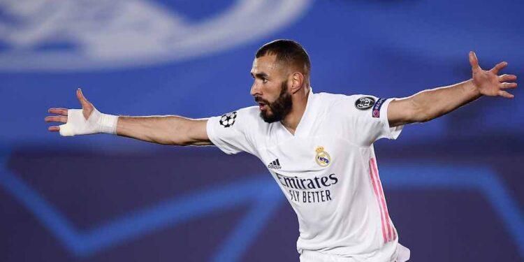 Madrid Spagna 03/11/2020 - Champions League / Real Madrid-Inter / foto Image nella foto: Karim Benzema PUBLICATIONxNOTxINxITA