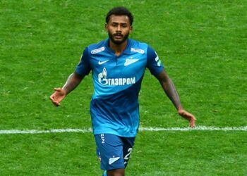 Russian Federation. Saint-Petersburg. Gazprom Arena. Football. Russian Premier League 2020/2021. round 11 of the RPL. FC Zenit - FC Sochi. Player of the Zenit football club