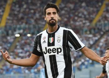 As Roma 27/08/2016 - campionato di calcio serie A / Lazio-Juventus / foto Antonello Sammarco/Image Sport nella foto: esultanza gol Sami Khedira