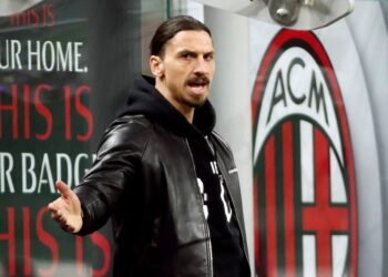 FILE PHOTO: Soccer Football - Serie A - AC Milan v Napoli - San Siro, Milan, Italy - March 14, 2021 AC Milan's Zlatan Ibrahimovic reacts REUTERS/Alessandro Garofalo/File Photo