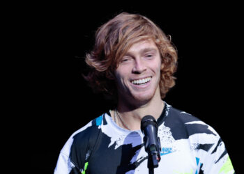 October 18, 2020, St Petersburg, USA: ST PETERSBURG, RUSSIA - OCTOBER 18: Andrey Rublev during the ATP St. Petersburg Open on October 18, 2020, at Sibur Arena in Saint Petersburg, Russia. (Photo by Anatoliy Medved/Icon Sportswire) (Credit Image: © Anatoliy Medved/Icon SMI via ZUMA Press)