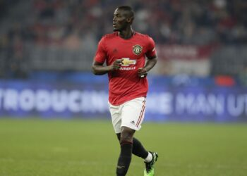 PERTH, AUSTRALIA - JULY 17:  Eric Bailly of Manchester United looks to pass the ball during a pre-season friendly match between Manchester United and Leeds United at Optus Stadium on July 17, 2019 in Perth, Australia. (Photo by Will Russell/Getty Images)