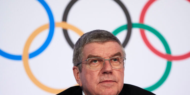 Thomas Bach, President of the International Olympic Committee (IOC) attends a news conference in Lausanne, Switzerland, January 9, 2020.  REUTERS/Denis Balibouse