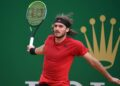 MONTE-CARLO, MONACO- APRIL 13: Images of Stefanos Tsitsipas from Greece and Aslan Karatsev from Russia on day 3, photo by Corinne Dubreuil/ATP Tour
