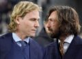 TURIN, ITALY - MARCH 12:  Pavel Nedved and Andrea Pirlo during the UEFA Champions League Round of 16 Second Leg match between Juventus and Club de Atletico Madrid at Allianz Stadium on March 12, 2019 in Turin, .  (Photo by Daniele Badolato - Juventus FC/Juventus FC via Getty Images)