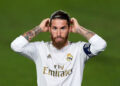 MADRID, SPAIN - JULY 16: Sergio Ramos of Real Madrid CF looks on during the La Liga match between Real Madrid CF and Villarreal CF at Estadio Alfredo Di Stefano on July 16, 2020 in Madrid, Spain. (Photo by Diego Souto/Quality Sport Images/Getty Images)